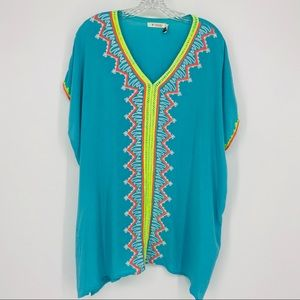 Izzy & Lola Embroidered Tunic Top Size M